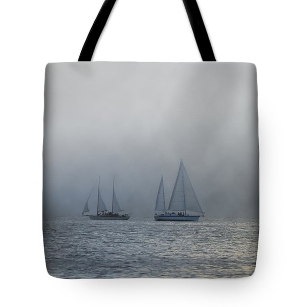 Incoming Fog Bank Tote Bag by Bill Cannon