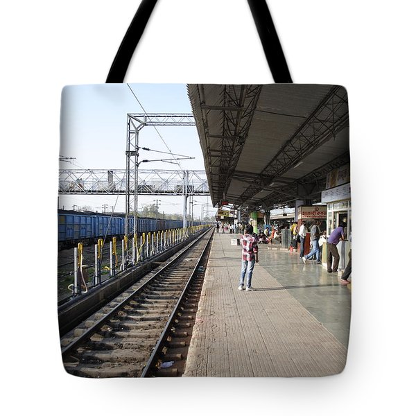 Indian railway station Tote Bag by Sumit Mehndiratta
