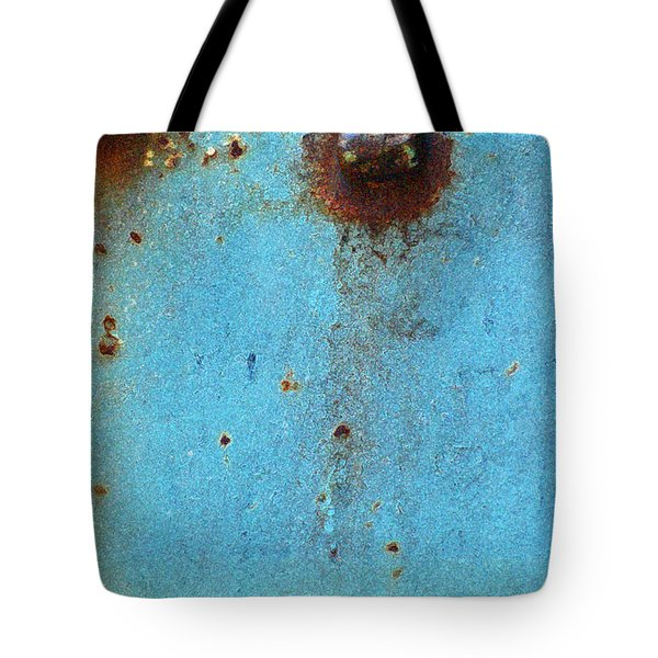 Industrial Blue Abstract Tote Bag by AdSpice Studios