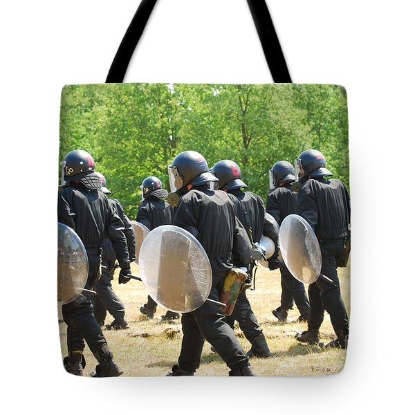 Infantry Soldiers Of The Belgian Army Tote Bag by Luc De Jaeger