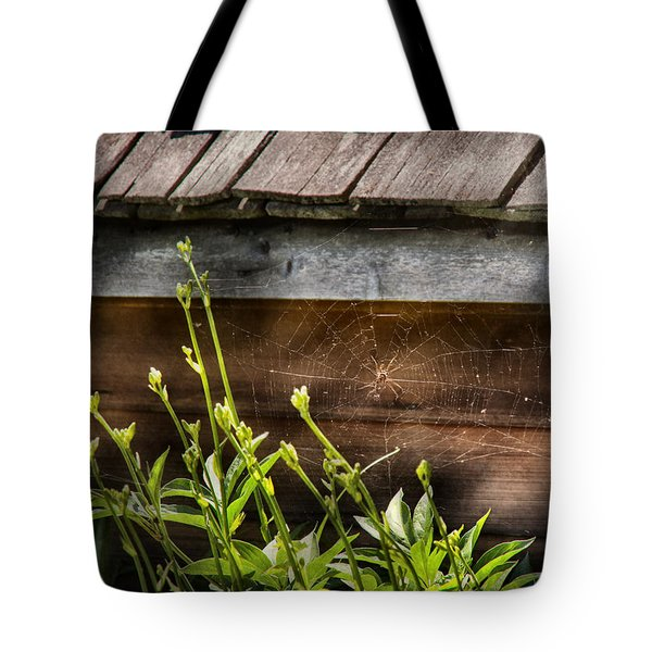 Insect - Spider - Charlottes Web Tote Bag by Mike Savad