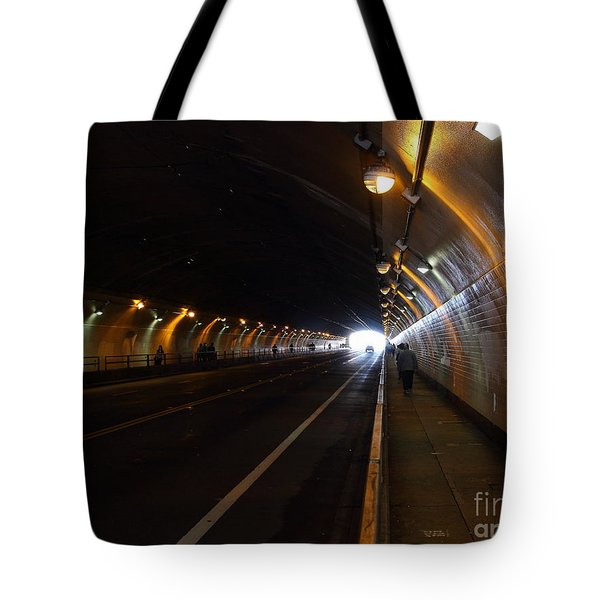Inside The Stockton Street Tunnel in San Francisco . 7D7363.3 Tote Bag by Wingsdomain Art and Photography