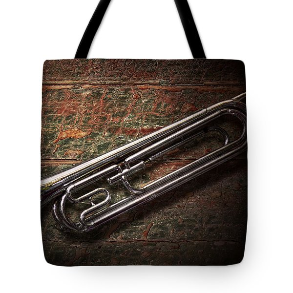 Instrument - Horn - The Bugle Tote Bag by Mike Savad