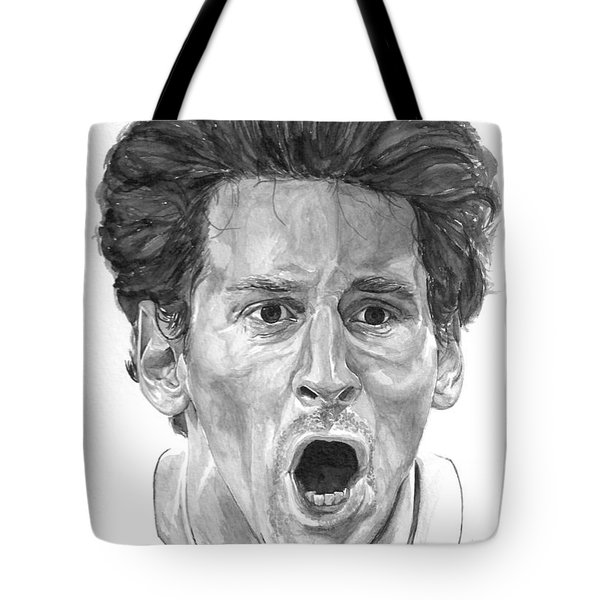 Intensity Lionel Messi Tote Bag by Tamir Barkan