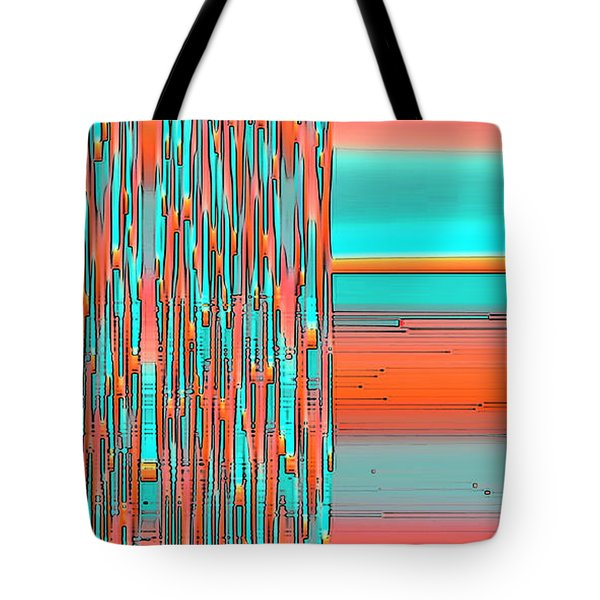Interplay Of Warm And Cool Tote Bag by Ben and Raisa Gertsberg