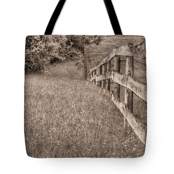 Into The Distance Bw Tote Bag by JC Findley