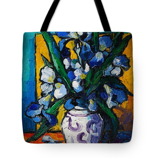 IRISES Tote Bag by MONA EDULESCO