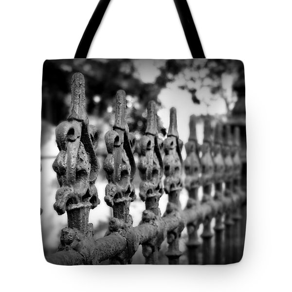 Iron Fence 2 Tote Bag by Perry Webster