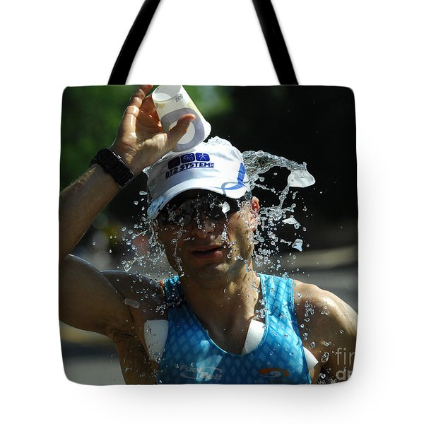 Ironman 2012 A Long Day Tote Bag by Bob Christopher