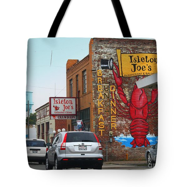 Isleton Joes Restaurant And Saloon In Isleton California Tote Bag by Wingsdomain Art and Photography