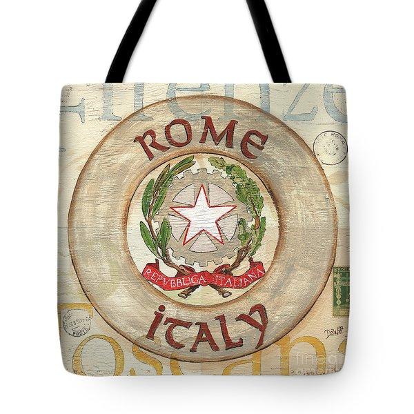 Italian Coat Of Arms Tote Bag by Debbie DeWitt