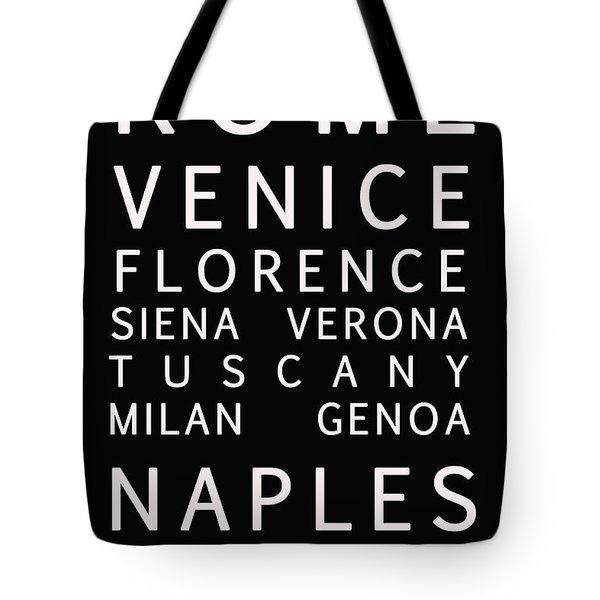 Italy Cities - Bus Roll Style Tote Bag by Georgia Fowler