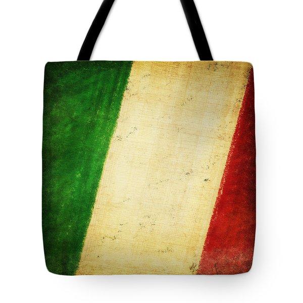 Italy Flag Tote Bag by Setsiri Silapasuwanchai