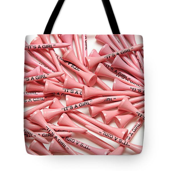 Its A Girl Golf Tees Tote Bag by Andee Design