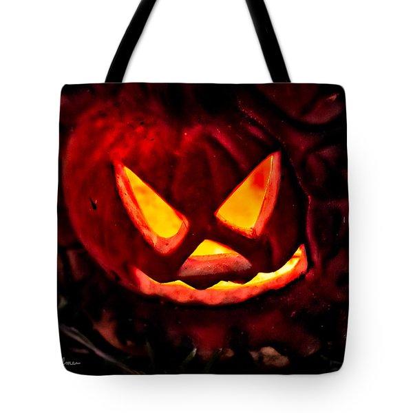 Jack-o-lantern Tote Bag by Christopher Holmes
