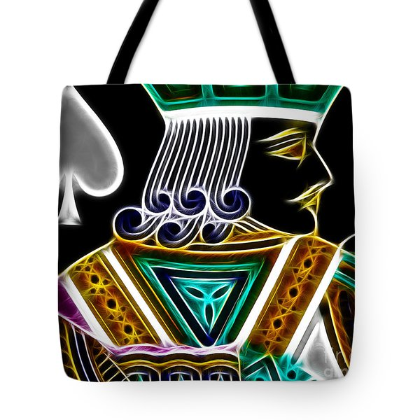 Jack Of Spades - V4 Tote Bag by Wingsdomain Art and Photography