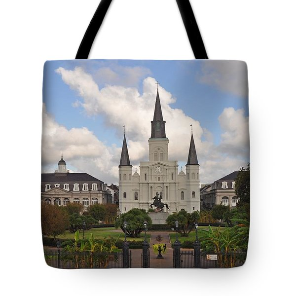 Jackson Square New Orleans Tote Bag by Bill Cannon