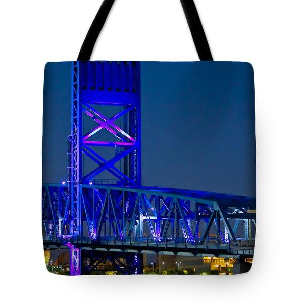 Jacksonville Skyline Tote Bag by Debra and Dave Vanderlaan