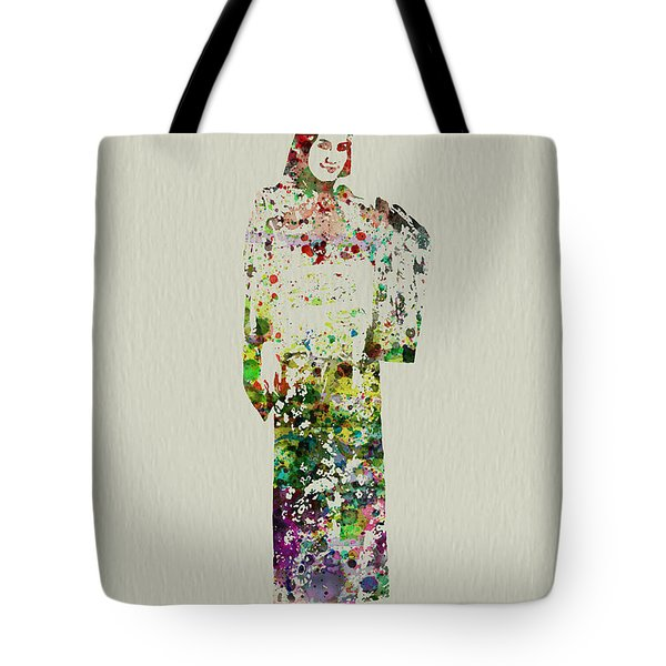 Japanese Woman Dancing Tote Bag by Naxart Studio