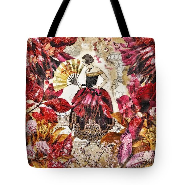 Jardin Des Papillons Tote Bag by Mo T