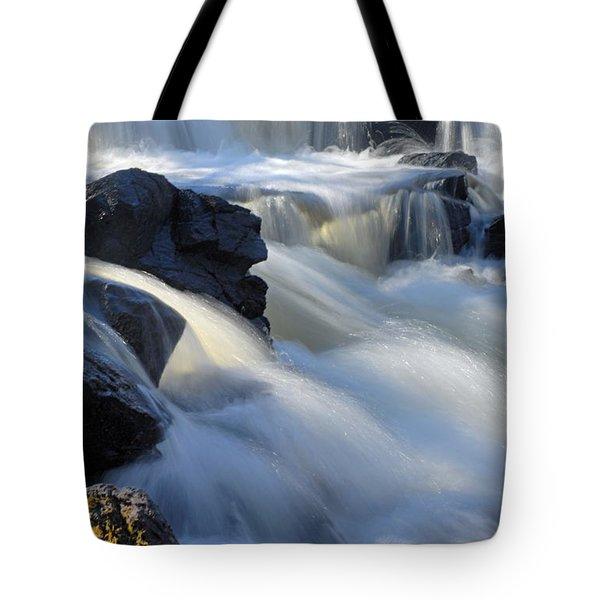 Jasper Falls Closeup Tote Bag by Larry Ricker