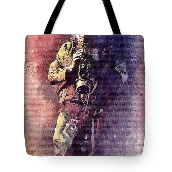Jazz Miles Davis Maditation Tote Bag by Yuriy  Shevchuk