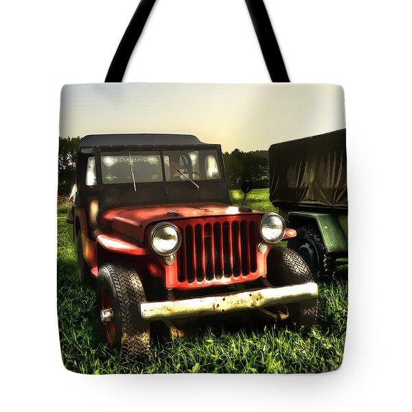 Jeep Seen Better Days Tote Bag by Dan Friend