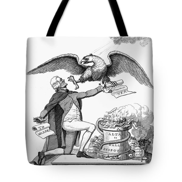 Jefferson: Cartoon, 1800 Tote Bag by Granger