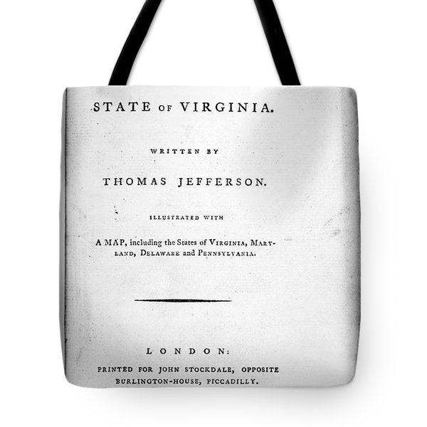 Jefferson: Title Page, 1787 Tote Bag by Granger