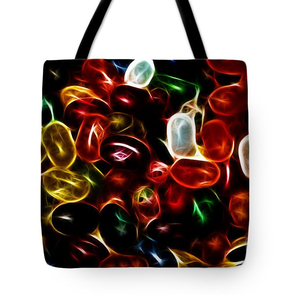 Jelly Belly - Electric Tote Bag by Wingsdomain Art and Photography