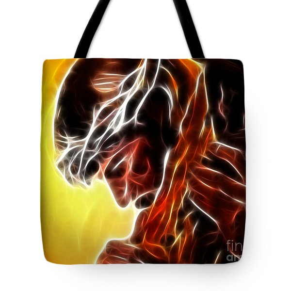 Jesus Carrying The Cross Tote Bag by Pamela Johnson