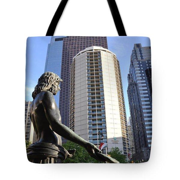 Jesus Of Philadelphia Tote Bag by Bill Cannon