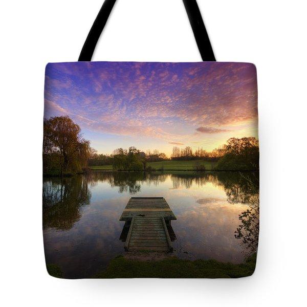 Jetty Sunrise 4.0 Tote Bag by Yhun Suarez
