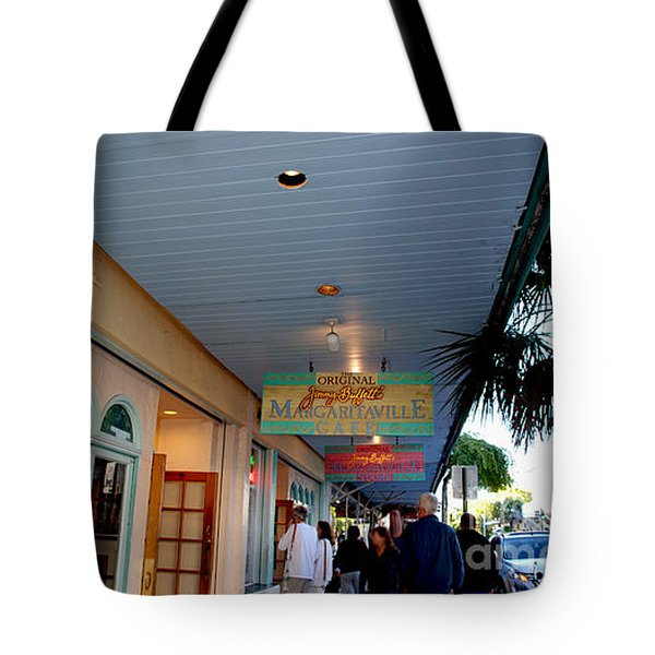 Jimmy Buffet's Margaritaville Key West Tote Bag by Susanne Van Hulst