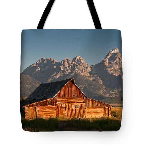 John And Bartha Moulton Barn Tote Bag by Stuart Wilson and Photo Researchers
