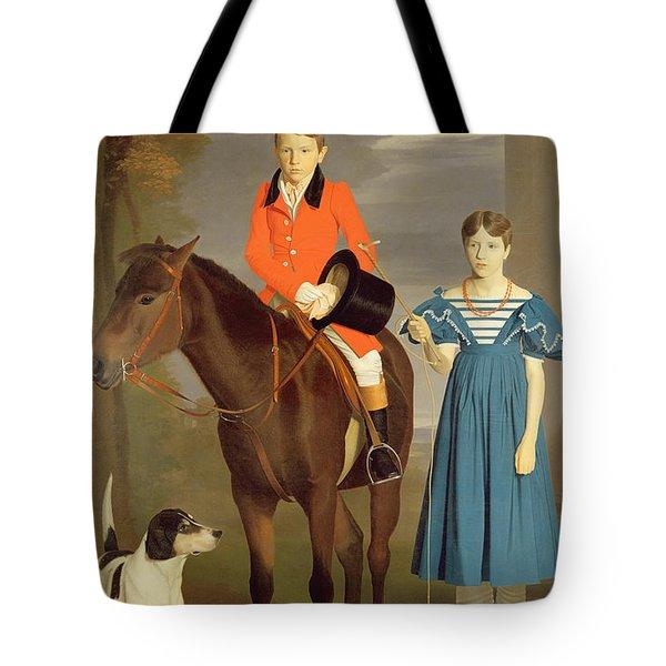 John Gubbins Newton And His Sister Mary Tote Bag by Robert Burnard