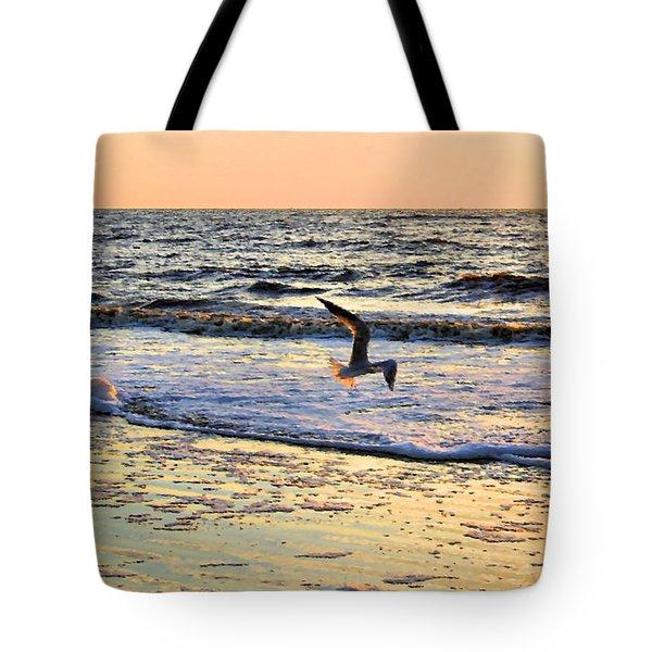 Jonathan Livingston Seagull Tote Bag by Kristin Elmquist