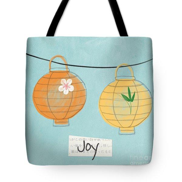 Joy Lanterns Tote Bag by Linda Woods