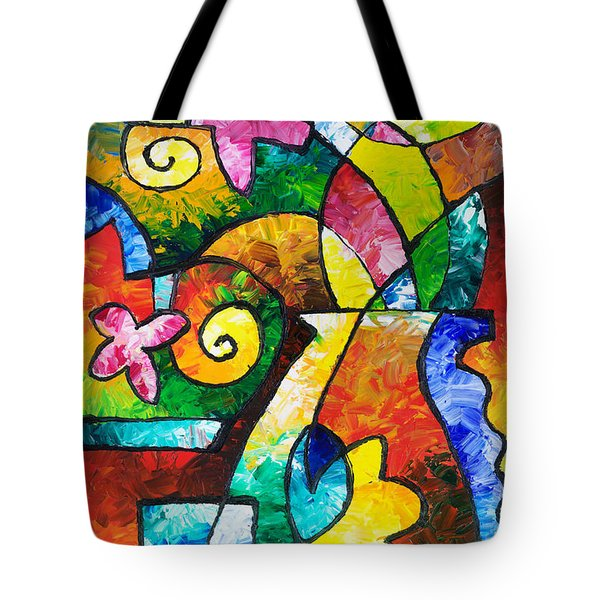 July Blooms Tote Bag by Sally Trace