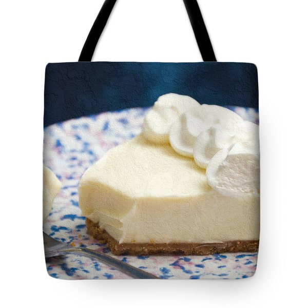 Just One Bite Of Key Lime Pie Tote Bag by Andee Design