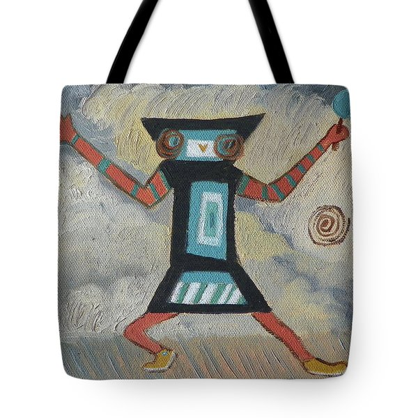 K Is For Kachina Detail From Childhood Quilt Painting Tote Bag by Dawn Senior-Trask