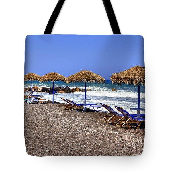 Kamari - Santorini Tote Bag by Joana Kruse