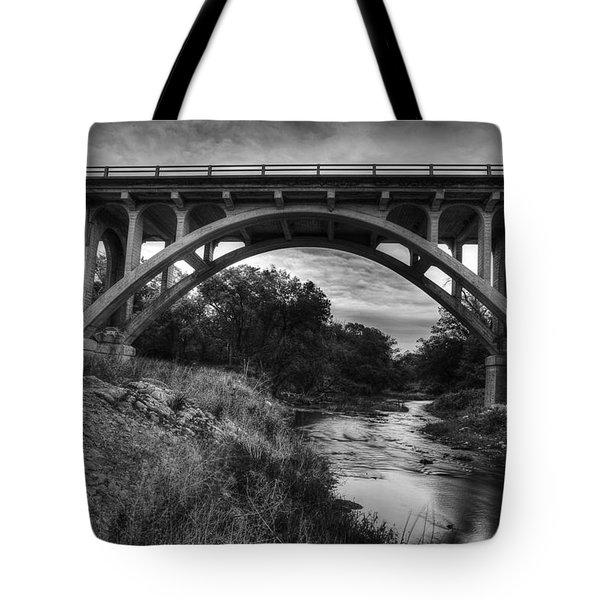Kansas Archway Bridge Tote Bag by Thomas Zimmerman
