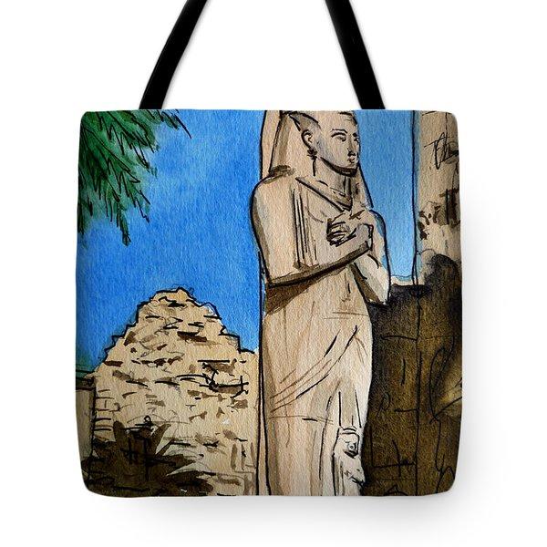Karnak Temple Egypt Tote Bag by Irina Sztukowski