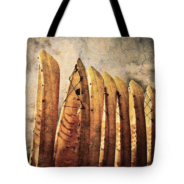 Kayaks Tote Bag by Skip Nall