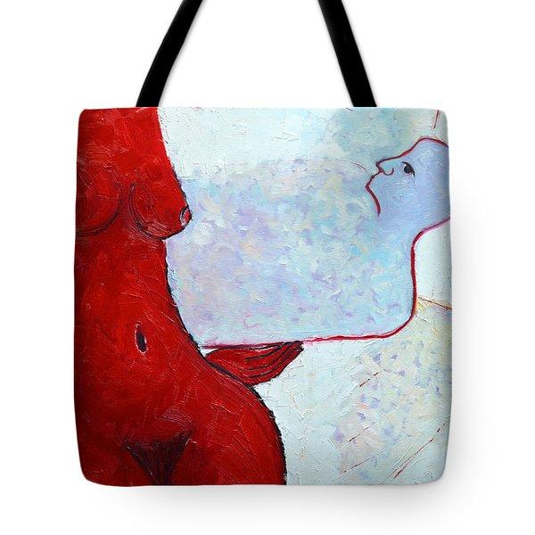 Keeping Her Guardian Angel In Her Hand Tote Bag by Ana Maria Edulescu