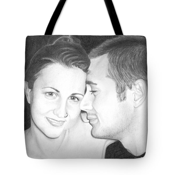 Kelly And Chris Lanktree Tote Bag by Ana Tirolese