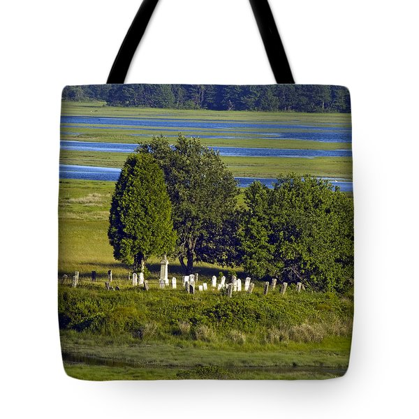 Kennebunkport Farmhouse Graves Tote Bag by Dave Saltonstall