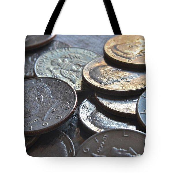 Kennedy Half Dollars I Tote Bag by Bill Owen