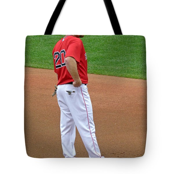 Kevin Youkilis Tote Bag by Juergen Roth